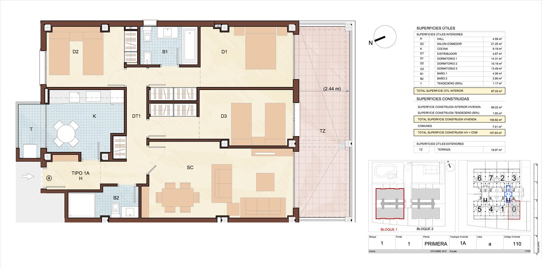 Vivienda 3 Dormitorios Grande Of Planos De Viviendas De 3 - Planos-de-pisos-de-3-dormitorios